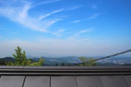 今日は六甲山の現場へ。お天気が良くて、四国まで見ることができました。